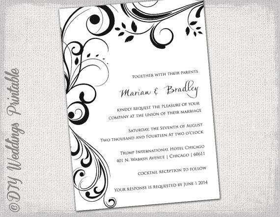 Invitation Templates Free Word Templates  Wedding Invite Templates