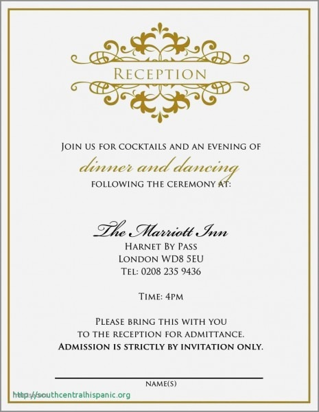 Wedding Reception Invitation Wording For Friends From Bride And