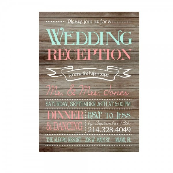 Wedding Reception Only Invitations Wedding Reception Only