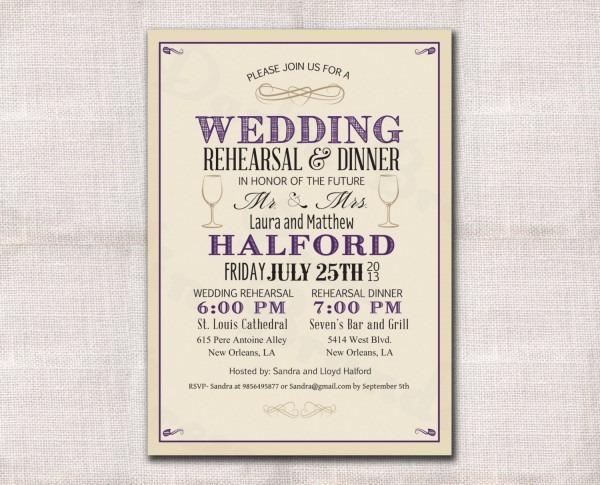 Wedding Invitation Template Wedding Rehearsal Invitations Wedding