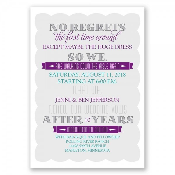 Wedding Vow Renewal Invitations Wedding Vow Renewal Invitations