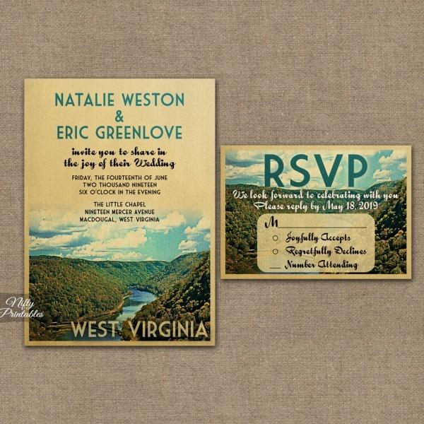 West Virginia Wedding Invitations Vtw