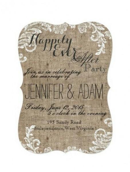 Reception Only Wedding Invitations