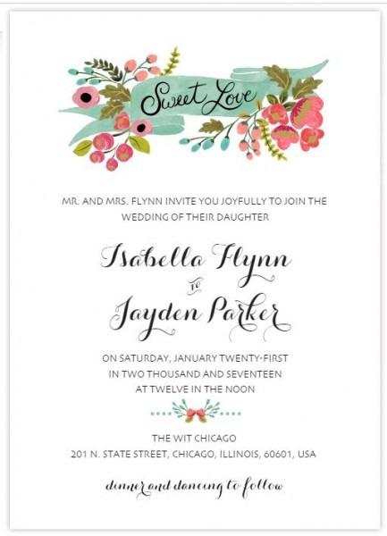 Template Wedding Invitation