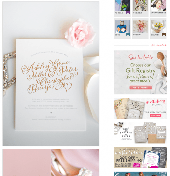 Silver Foiled Ombré Wedding Stationery Featured