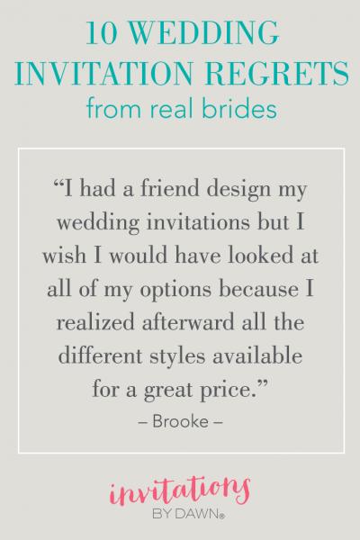 10 Wedding Invitation Regrets