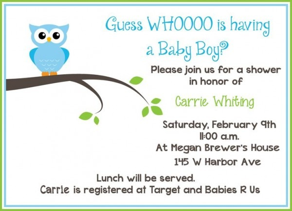 Well Sample Baby Shower Invitations 17