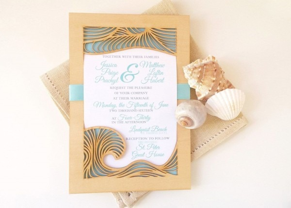 206458 Where To Get Wedding Invitations Made Inspirational Beach