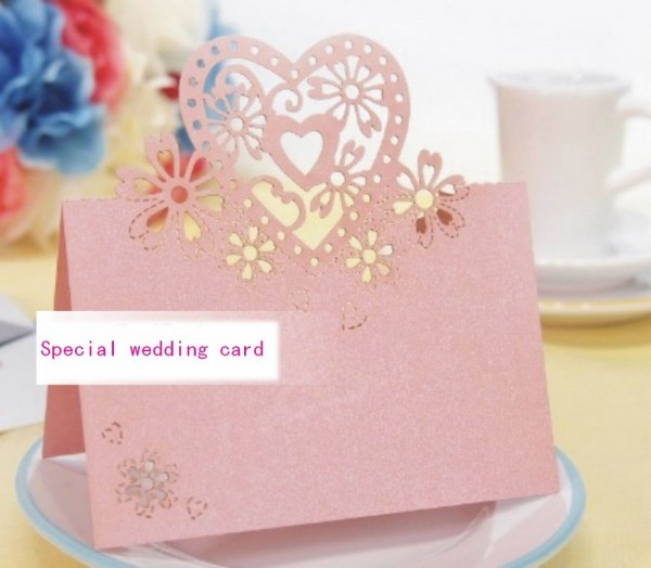 Wholesale Lovers Shaped Wedding Invitation Decorations Place Cards