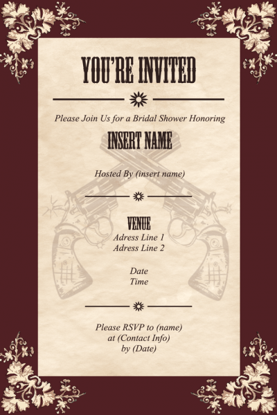 Wild West Invitation Thing By Sparkout1911 On Deviantart