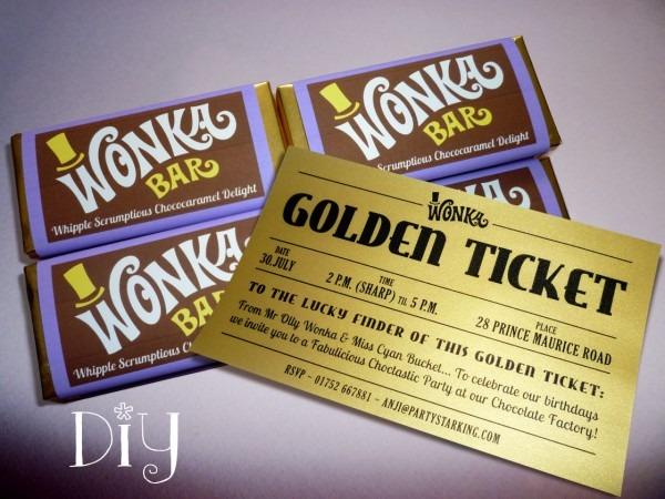 Invitation Ideas  Willy Wonka Party Invites