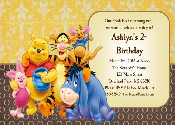 Winnie The Pooh 1st Birthday Invitations — Birthday Invitation