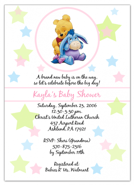 Winnie The Pooh Baby Shower Invitations Templates Free