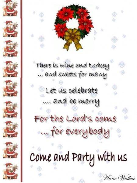 Party Invitations  Festive Christmas Party Invitation Wording