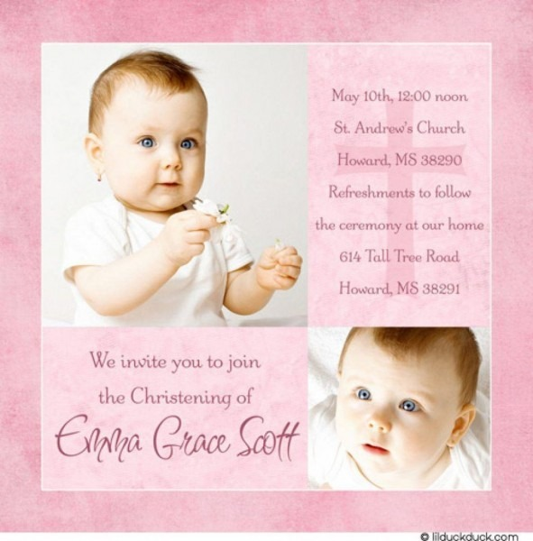 New Baptism Invitation Wording Catholic