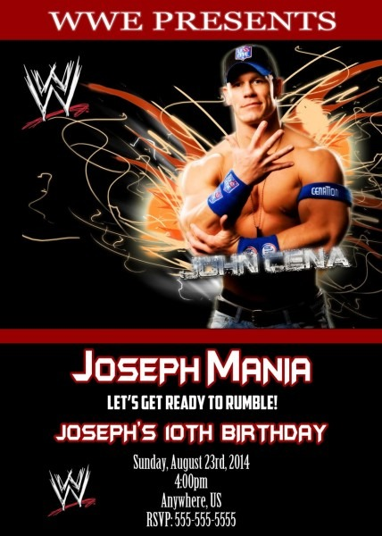 Beautiful Wwe Birthday Invitations As Free Birthday Invitation
