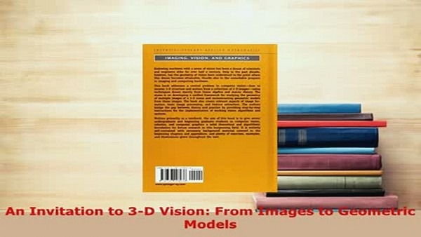 Pdf An Invitation To 3d Vision From Images To Geometric Models