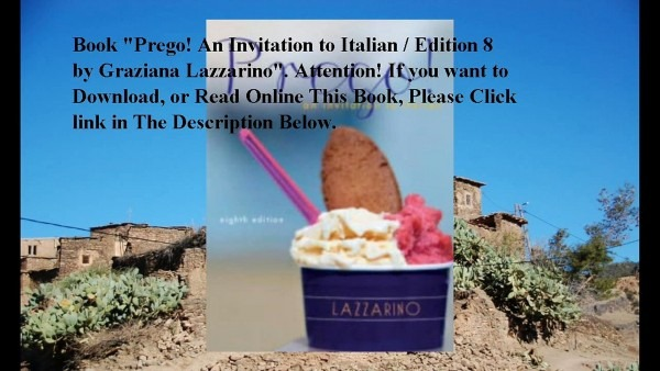 Download Prego! An Invitation To Italian   Edition 8 Ebook Pdf