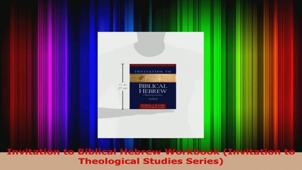 Download Invitation To Biblical Hebrew Workbook Invitation To
