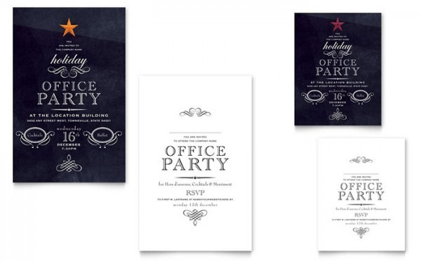 Xx S Great Holiday Party Invitation Templates Publisher