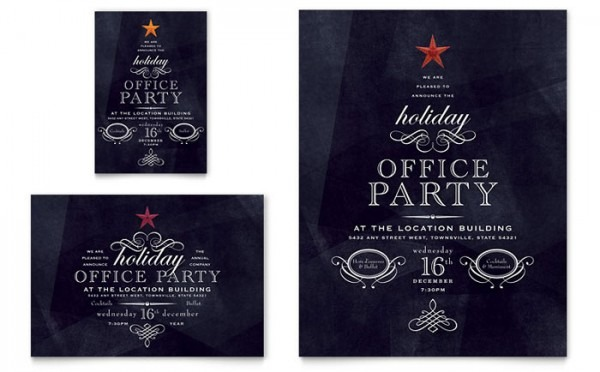 Xx S Simple Company Christmas Party Invitation Templates