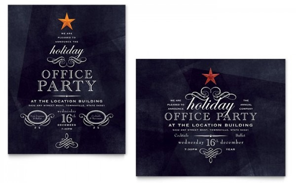Xx S Trend Holiday Party Invitation Templates Publisher