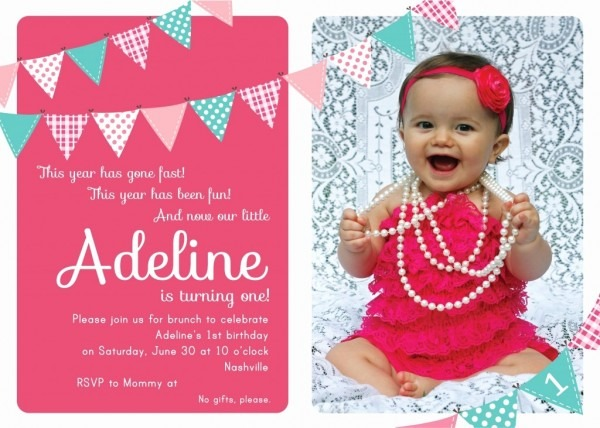 Year Old Invitations Sample Of Birthday Invitation Cards Year Old