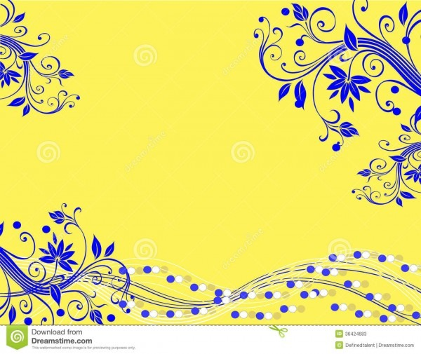 Yellow Blue Horizontal Illustration Stock Vector