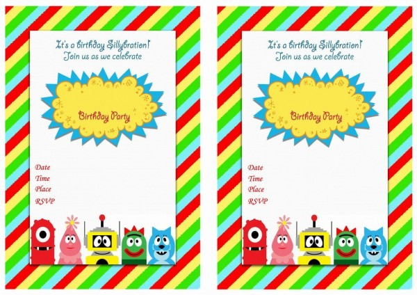 Yo Gabba Gabba Birthday Invitations – Birthday Printable