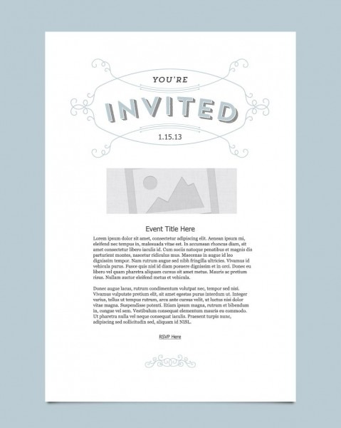 Youre Invited Ornate Best E Invite Template