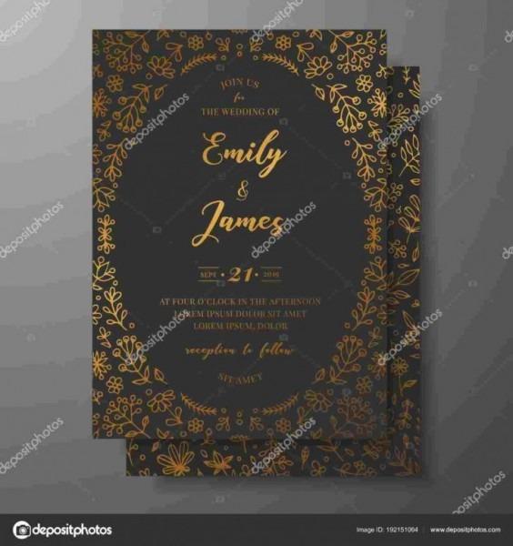 Blank Wedding Invitation Card Stock