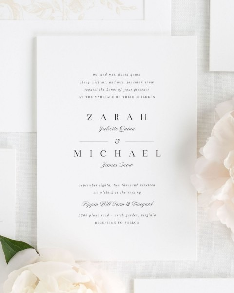 Zarah Wedding Invitations