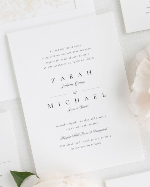 Zarah Wedding Invitations – Wedding Invitations By Shine – Wedding