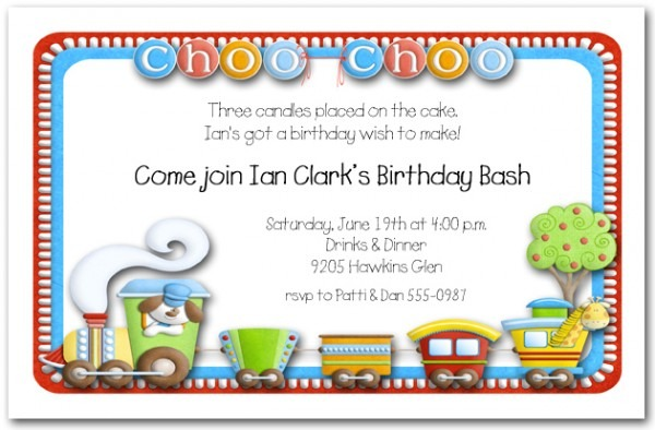 Zchoo Choo Train Party Invitations Elegant Train Birthday Party