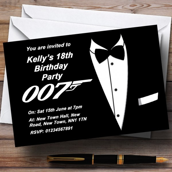 Zpspbktvsbu Contemporary Art Free James Bond Invitation Template