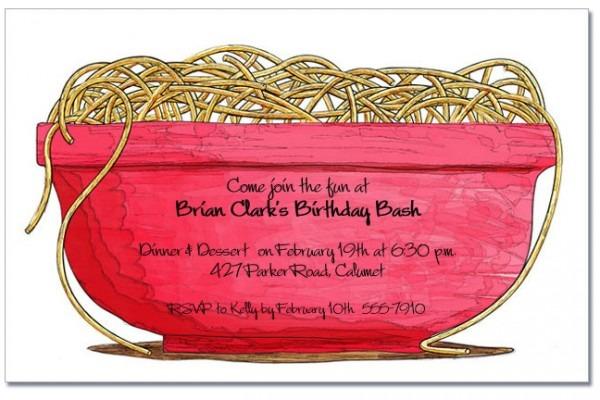 Sar Great Italian Themed Birthday Party Invitations