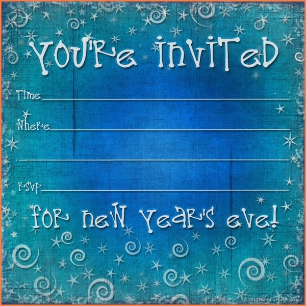 002 New Years Eve Invitation Template Ideas Free Yeare For Party
