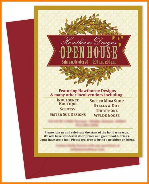 003 Template Ideas Open House Invitations Templates Business