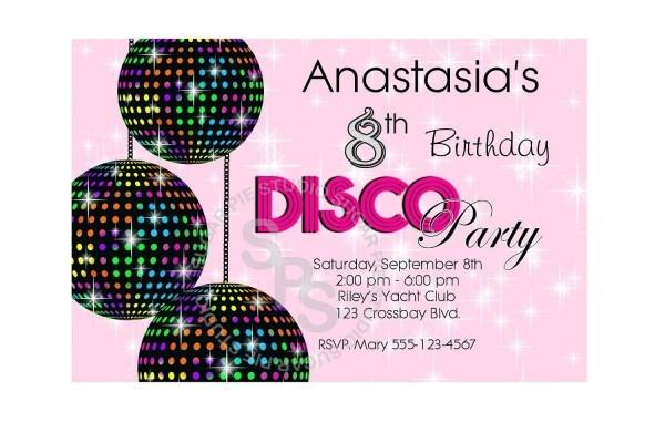 Free Disco Free Party Invites For Children