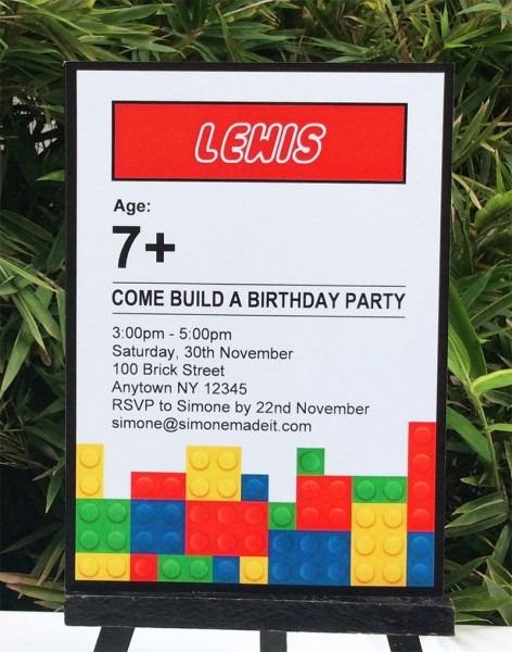 Lego Party Invitation Wording