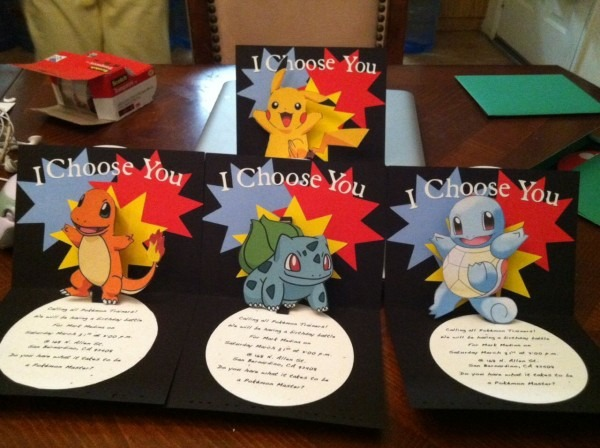 Cricut Pokemon Pop Up Birthday Invitation  Made This So Once The
