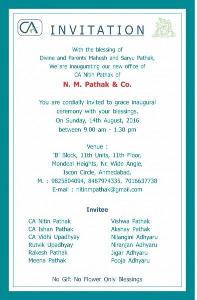 Ca Nitin Pathak Ahmedabad  Ca Nitin Pathak  Inauguration Of New