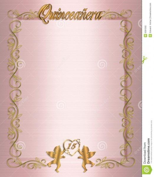 15th Birthday Quinceanera Invitation Stock Illustration