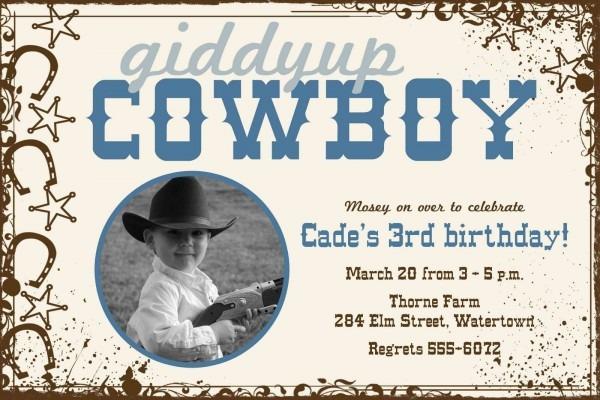 Cowboy Party Invite   Darling!!