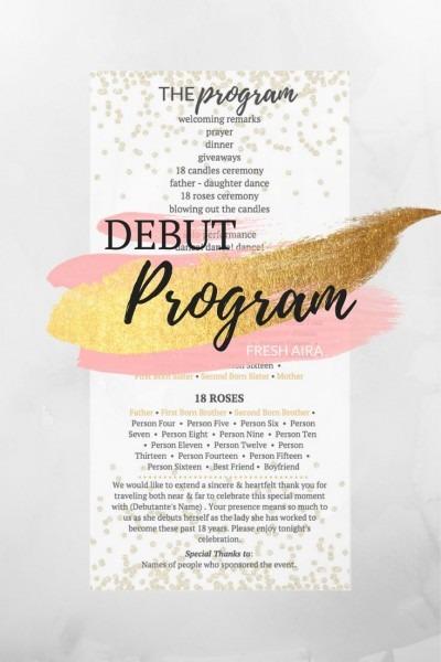 Filipino Debut Program