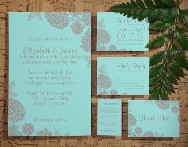 Elegant Teal & Silver Wedding Invitation By Invitationsnob On Etsy