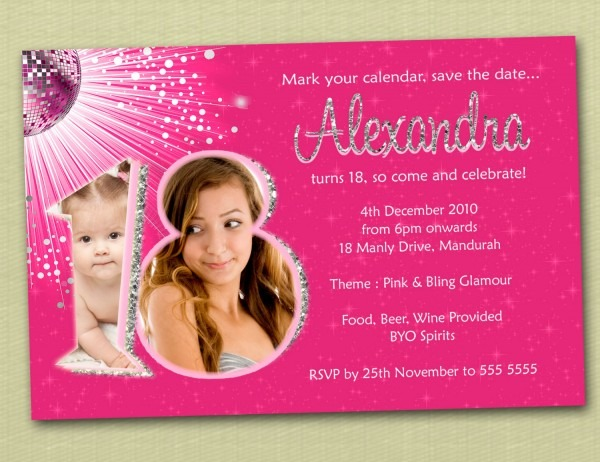 18th Birthday Invitations 18th Birthday Invitations And
