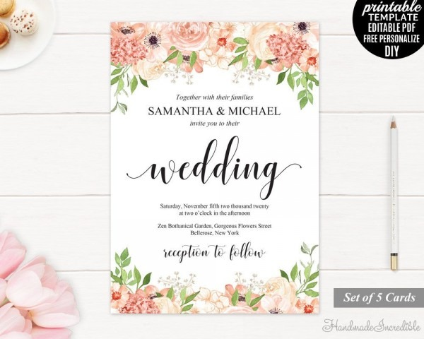 Editable Templates For Invitations