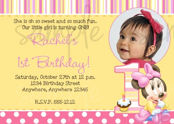 1st Birthday Invitation Wording No Gifts Beautiful With 1st