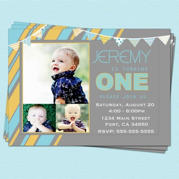 1st Birthday Party Invitations Etsy Etsy Baby Boy 1st Birthday